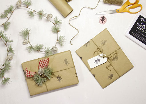 gift wrapping ideas - DIY Wrapping Paper