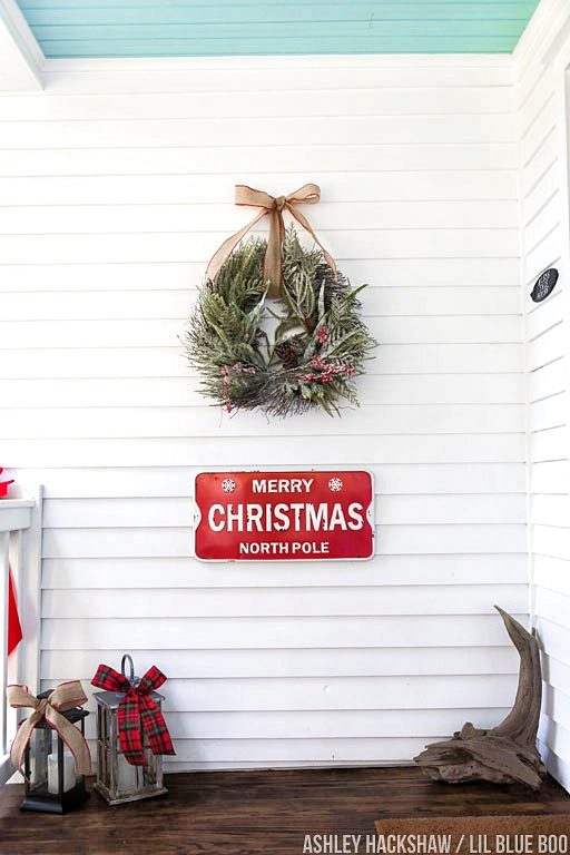 country christmas decorations for front porch