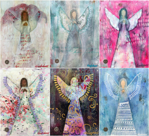 Contemporary Angel Paintings by Ashley Hackshaw on Etsy