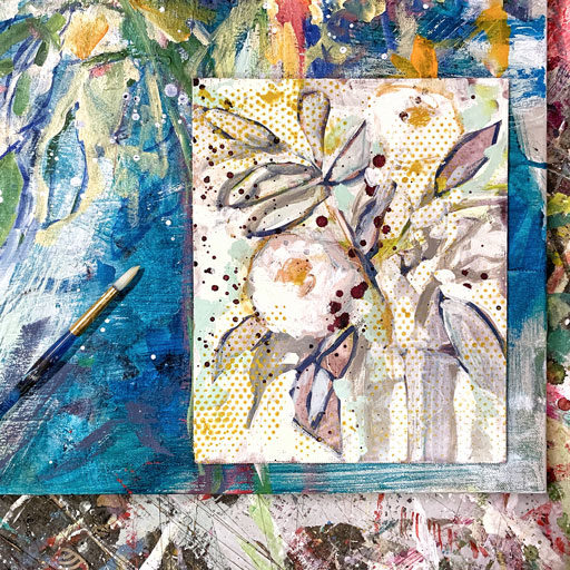 February Floral Paintings - Abstract Flower Paintings