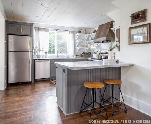 Farmhouse fixer upper kitchen - after