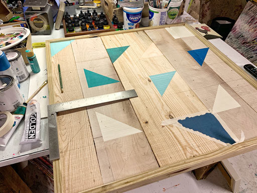 How to make a barn quilt on wood - How to Make a Modern Barn Quilt