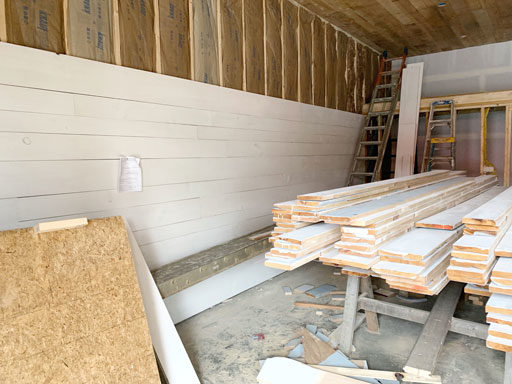 pine wood walls