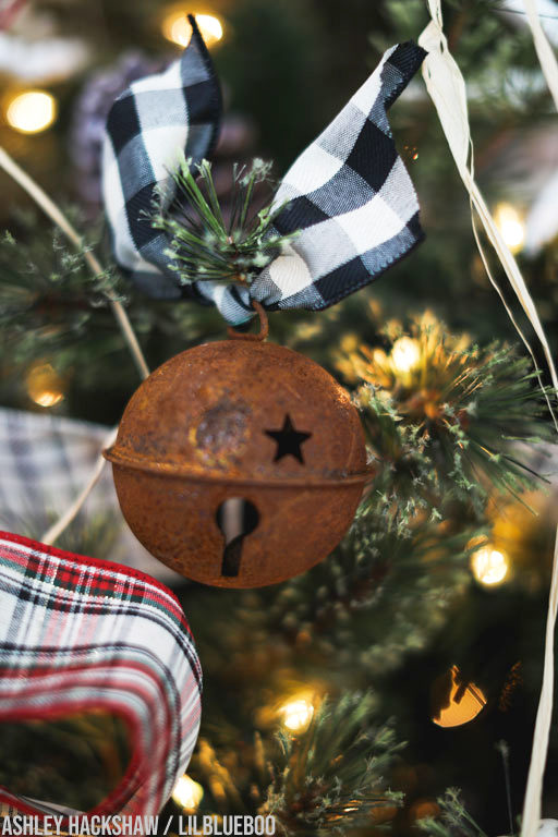 large rusty jingle bell ornament
