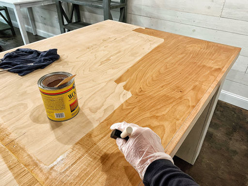 Refinishing bar top
